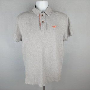 Hollister Young Men's Polo Shirt Size Large Gray S